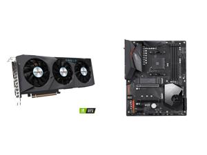 GIGABYTE GeForce RTX 3070 EAGLE OC 8GB Video Card GV-N3070EAGLE OC-8GD and GIGABYTE X570 AORUS ELITE WIFI AM4 AMD X570 SATA 6Gb/s ATX AMD Motherboard
