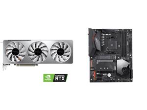 GIGABYTE GeForce RTX 3070 VISION OC 8GB Video Card GV-N3070VISION OC-8GD and GIGABYTE X570 AORUS ELITE WIFI AM4 AMD X570 SATA 6Gb/s ATX AMD Motherboard
