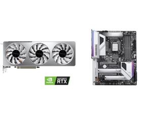 GIGABYTE GeForce RTX 3070 VISION OC 8GB Video Card GV-N3070VISION OC-8GD and GIGABYTE Z490 VISION G LGA 1200 Intel Z490 ATX Motherboard with Dual M.2 SATA 6Gb/s USB 3.2 Gen 2 2.5 GbE LAN SLI Support
