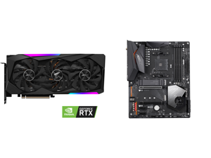 GIGABYTE AORUS GeForce RTX 3070 MASTER 8GB Video Card GV-N3070AORUS M-8GD and GIGABYTE X570 AORUS ELITE WIFI AM4 AMD X570 SATA 6Gb/s ATX AMD Motherboard