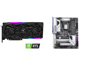GIGABYTE AORUS GeForce RTX 3070 MASTER 8GB Video Card GV-N3070AORUS M-8GD and GIGABYTE Z490 VISION G LGA 1200 Intel Z490 ATX Motherboard with Dual M.2 SATA 6Gb/s USB 3.2 Gen 2 2.5 GbE LAN SLI Support
