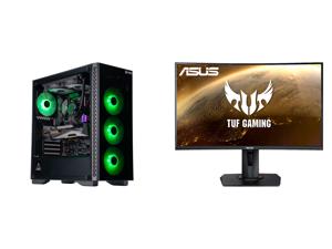 "ABS Gladiator Gaming PC - AMD Ryzen 7 5800X - GeForce RTX 3080 - G.Skill TridentZ RGB 32GB DDR4 3200MHz - 1TB Intel M.2 NVMe SSD - 240MM RGB AIO and ASUS TUF GAMING VG27WQ 27"" WQHD 2560 x 1440 (2K) 1ms (MPRT) 165Hz (Max) HDMI DisplayPort Fr"