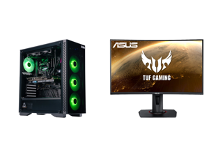 "ABS Master Gaming PC - Intel i7 10700F - EVGA GeForce RTX 3060 Ti FTW3 Ultra Gaming - 16GB DDR4 3000MHz - 1TB M.2 NVMe SSD - EVGA CLC 240MM RGB AIO and ASUS TUF GAMING VG27WQ 27"" WQHD 2560 x 1440 (2K) 1ms (MPRT) 165Hz (Max) HDMI DisplayPort"