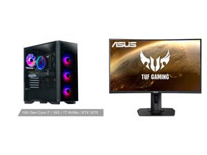 "ABS Gladiator Gaming PC - Intel i7 10700F - GeForce RTX 3070 - 16GB DDR4 3000MHz - 1TB M.2 NVMe SSD and ASUS TUF GAMING VG27WQ 27"" WQHD 2560 x 1440 (2K) 1ms (MPRT) 165Hz (Max) HDMI DisplayPort FreeSync DisplayHDR 400 Built-in Speakers Heigh"