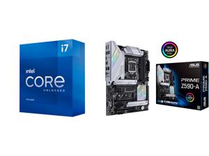 Intel Core i7-11700K Rocket Lake 8-Core 3.6 GHz LGA 1200 125W BX8070811700K Desktop Processor Intel UHD Graphics 750 and ASUS PRIME Z590-A LGA 1200 Intel Z590 SATA 6Gb/s ATX Intel Motherboard