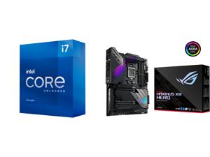 Intel Core i7-11700K Rocket Lake 8-Core 3.6 GHz LGA 1200 125W BX8070811700K Desktop Processor Intel UHD Graphics 750 and ASUS ROG MAXIMUS XIII HERO LGA 1200 Intel Z590 SATA 6Gb/s ATX Intel Motherboard