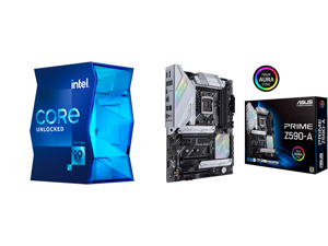 Intel Core i9-11900K Rocket Lake 8-Core 3.5 GHz LGA 1200 125W BX8070811900K Desktop Processor Intel UHD Graphics 750 and ASUS PRIME Z590-A LGA 1200 Intel Z590 SATA 6Gb/s ATX Intel Motherboard