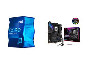 Intel Core i9-11900K Rocket Lake 8-Core 3.5 GHz LGA 1200 125W BX8070811900K Desktop Processor Intel UHD Graphics 750 and ASUS ROG STRIX Z590-E GAMING WIFI LGA 1200 Intel Z590 SATA 6Gb/s ATX Intel Motherboard
