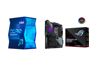 Intel Core i9-11900K Rocket Lake 8-Core 3.5 GHz LGA 1200 125W BX8070811900K Desktop Processor Intel UHD Graphics 750 and ASUS ROG MAXIMUS XIII HERO LGA 1200 Intel Z590 SATA 6Gb/s ATX Intel Motherboard