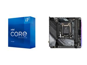 Intel Core i7-11700K Rocket Lake 8-Core 3.6 GHz LGA 1200 125W BX8070811700K Desktop Processor Intel UHD Graphics 750 and GIGABYTE Z590I AORUS ULTRA LGA 1200 Intel Z590 Mini-ITX Motherboard with Dual M.2 PCIe 4.0 USB 3.2 Gen2X2 Type-C Intel