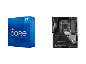 Intel Core i7-11700K Rocket Lake 8-Core 3.6 GHz LGA 1200 125W BX8070811700K Desktop Processor Intel UHD Graphics 750 and GIGABYTE Z590 AORUS ULTRA LGA 1200 Intel Z590 SATA 6Gb/s ATX Intel Motherboard