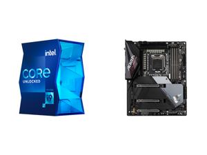 Intel Core i9-11900K Rocket Lake 8-Core 3.5 GHz LGA 1200 125W BX8070811900K Desktop Processor Intel UHD Graphics 750 and GIGABYTE Z590 AORUS ULTRA LGA 1200 Intel Z590 SATA 6Gb/s ATX Intel Motherboard