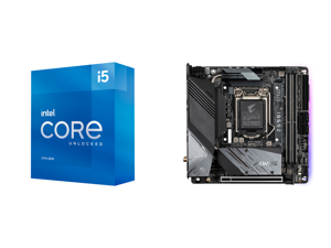 Intel Core i5-11600K Rocket Lake 6-Core 3.9 GHz LGA 1200 125W BX8070811600K Desktop Processor Intel UHD Graphics 750 and GIGABYTE Z590I AORUS ULTRA LGA 1200 Intel Z590 Mini-ITX Motherboard with Dual M.2 PCIe 4.0 USB 3.2 Gen2X2 Type-C Intel