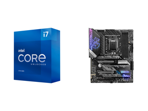 Intel Core i7-11700K Rocket Lake 8-Core 3.6 GHz LGA 1200 125W BX8070811700K Desktop Processor Intel UHD Graphics 750 and MSI MPG Z590 GAMING CARBON WIFI LGA 1200 Intel Z590 SATA 6Gb/s ATX Intel Motherboard