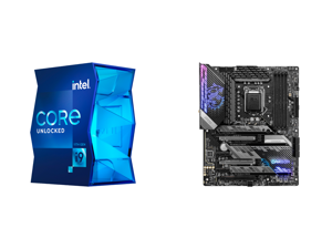 Intel Core i9-11900K Rocket Lake 8-Core 3.5 GHz LGA 1200 125W BX8070811900K Desktop Processor Intel UHD Graphics 750 and MSI MPG Z590 GAMING CARBON WIFI LGA 1200 Intel Z590 SATA 6Gb/s ATX Intel Motherboard