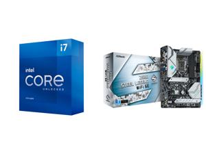 Intel Core i7-11700K Rocket Lake 8-Core 3.6 GHz LGA 1200 125W BX8070811700K Desktop Processor Intel UHD Graphics 750 and ASRock Z590 Steel Legend WiFi 6E LGA 1200 Intel Z590 SATA 6Gb/s ATX Intel Motherboard