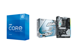 Intel Core i5-11600K Rocket Lake 6-Core 3.9 GHz LGA 1200 125W BX8070811600K Desktop Processor Intel UHD Graphics 750 and ASRock Z590 STEEL LEGEND LGA 1200 Intel Z590 SATA 6Gb/s ATX Intel Motherboard
