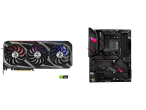 ASUS ROG Strix GeForce RTX 3090 DirectX 12 ROG-STRIX-RTX3090-O24G-GAMING 24GB 384-Bit GDDR6X PCI Express 4.0 x16 HDCP Ready SLI Support Video Card and ASUS ROG Strix B550-E Gaming AMD AM4 (3rd Gen Ryzen) ATX Gaming Motherboard (PCIe 4.0 NVI