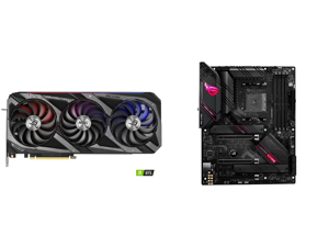 ASUS ROG Strix GeForce RTX 3080 DirectX 12 ROG-STRIX-RTX3080-O10G-GAMING 10GB 320-Bit GDDR6X PCI Express 4.0 x16 HDCP Ready Video Card and ASUS ROG Strix B550-E Gaming AMD AM4 (3rd Gen Ryzen) ATX Gaming Motherboard (PCIe 4.0 NVIDIA SLI WiFi