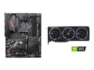 GIGABYTE AORUS GeForce RTX 3060 Ti ELITE 8G Graphics Card, GIGABYTE B550 AORUS ELITE AM4 AMD B550 ATX Motherboard