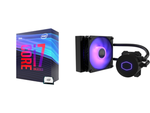 Intel Core i7-9700K Coffee Lake 8-Core 3.6 GHz (4.9 GHz Turbo) LGA 1151 (300 Series) 95W BX80684I79700K Desktop Processor Intel UHD Graphics 630 and CoolerMaster MasterLiquid ML120L RGB V2 Close-Loop AIO CPU Liquid Cooler 120 Radiator Sickl