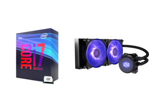 Intel Core i7-9700K Coffee Lake 8-Core 3.6 GHz (4.9 GHz Turbo) LGA 1151 (300 Series) 95W BX80684I79700K Desktop Processor Intel UHD Graphics 630 and Cooler Master MasterLiquid ML240L RGB Close-Loop CPU Liquid Cooler 240mm Radiator Dual Cham