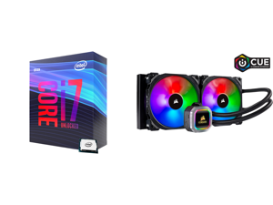 Intel Core i7-9700K Coffee Lake 8-Core 3.6 GHz (4.9 GHz Turbo) LGA 1151 (300 Series) 95W BX80684I79700K Desktop Processor Intel UHD Graphics 630 and CORSAIR Hydro Series H115i RGB PLATINUM 280mm 2 x ML PRO 140mm RGB PWM Fans RGB Lighting Fa