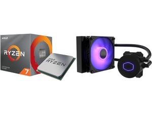 AMD RYZEN 7 3700X 8-Core 3.6 GHz (4.4 GHz Max Boost) Socket AM4 65W 100-100000071BOX Desktop Processor and CoolerMaster MasterLiquid ML120L RGB V2 Close-Loop AIO CPU Liquid Cooler 120 Radiator SickleFlow 120mm RGB Lighting 3rd Gen Dual Cham