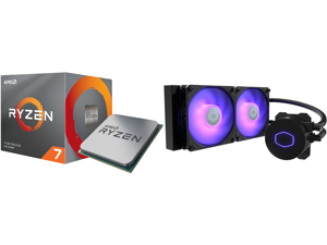 AMD RYZEN 7 3700X 8-Core 3.6 GHz (4.4 GHz Max Boost) Socket AM4 65W 100-100000071BOX Desktop Processor and CoolerMaster MasterLiquid ML240L RGB V2 Close-Loop AIO CPU Liquid Cooler 240 Radiator Dual SickleFlow 120mm RGB Lighting 3rd Gen Dual