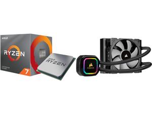 AMD RYZEN 7 3700X 8-Core 3.6 GHz (4.4 GHz Max Boost) Socket AM4 65W 100-100000071BOX Desktop Processor and CORSAIR iCUE H60i RGB PRO XT 120mm Radiator Single 120mm PWM Fan Software Control Liquid CPU Cooler CW-9060049-WW