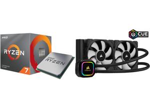 AMD RYZEN 7 3700X 8-Core 3.6 GHz (4.4 GHz Max Boost) Socket AM4 65W 100-100000071BOX Desktop Processor and CORSAIR iCUE H100i RGB PRO XT 240mm Radiator Dual 120mm PWM Fans Software Control Liquid CPU Cooler CW-9060043-WW