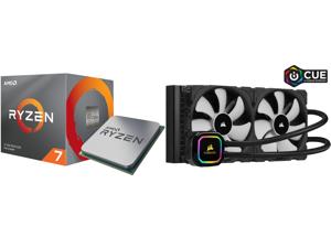 AMD RYZEN 7 3700X 8-Core 3.6 GHz (4.4 GHz Max Boost) Socket AM4 65W 100-100000071BOX Desktop Processor and CORSAIR iCUE H115i RGB PRO XT 280mm Radiator Dual 140mm PWM Fans Software Control Liquid CPU Cooler CW-9060044-WW