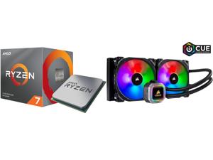 AMD RYZEN 7 3700X 8-Core 3.6 GHz (4.4 GHz Max Boost) Socket AM4 65W 100-100000071BOX Desktop Processor and CORSAIR Hydro Series H115i RGB PLATINUM 280mm 2 x ML PRO 140mm RGB PWM Fans RGB Lighting Fan Control w/ Software Liquid CPU Cooler. C