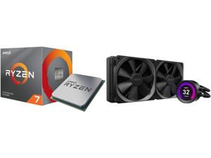 AMD RYZEN 7 3700X 8-Core 3.6 GHz (4.4 GHz Max Boost) Socket AM4 65W 100-100000071BOX Desktop Processor and NZXT Kraken Z Series Z63 280mm - RL-KRZ63-01 - AIO RGB CPU Liquid Cooler - Customizable LCD Display - Improved Pump - Powered by CAM