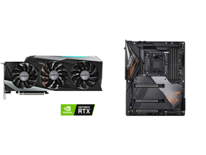 GIGABYTE GeForce RTX 3080 GAMING OC 10GB Video Card GV-N3080GAMING OC-10GD and GIGABYTE Z490 AORUS MASTER LGA 1200 Intel Z490 ATX Motherboard with Triple M.2 SATA 6Gb/s USB 3.2 Gen 2 WIFI 6 2.5 GbE LAN
