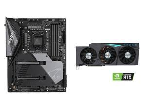 GIGABYTE GeForce RTX 3080 EAGLE 10GB Video Card, GIGABYTE Z490 AORUS MASTER WATERFORCE LGA 1200 Intel Z490 SATA 6Gb/s ATX Intel Motherboard