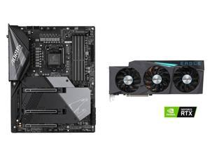 GIGABYTE GeForce RTX 3080 EAGLE OC 10GB Video Card, GIGABYTE Z490 AORUS MASTER WATERFORCE LGA 1200 Intel Z490 SATA 6Gb/s ATX Intel Motherboard