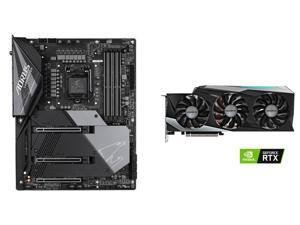 GIGABYTE GeForce RTX 3080 GAMING OC 10GB Video Card, GIGABYTE Z490 AORUS MASTER WATERFORCE LGA 1200 Intel Z490 SATA 6Gb/s ATX Intel Motherboard