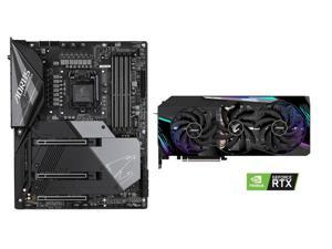 GIGABYTE AORUS GeForce RTX 3080 MASTER 10GB Video Card, GIGABYTE Z490 AORUS MASTER WATERFORCE LGA 1200 Intel Z490 SATA 6Gb/s ATX Intel Motherboard