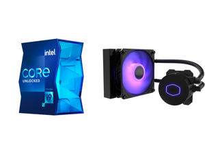 Intel Core i9-11900K Rocket Lake 8-Core 3.5 GHz LGA 1200 125W BX8070811900K Desktop Processor Intel UHD Graphics 750 and CoolerMaster MasterLiquid ML120L RGB V2 Close-Loop AIO CPU Liquid Cooler 120 Radiator SickleFlow 120mm RGB Lighting 3rd