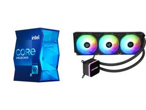 Intel Core i9-11900K Rocket Lake 8-Core 3.5 GHz LGA 1200 125W BX8070811900K Desktop Processor Intel UHD Graphics 750 and Enermax LIQMAX III ARGB 360 Addressable RGB All-in-one CPU Liquid Cooler for AM4 / LGA1200 360mm Radiator Dual-Chamber