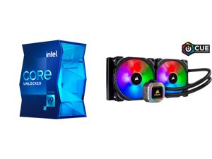 Intel Core i9-11900K Rocket Lake 8-Core 3.5 GHz LGA 1200 125W BX8070811900K Desktop Processor Intel UHD Graphics 750 and CORSAIR Hydro Series H115i RGB PLATINUM 280mm 2 x ML PRO 140mm RGB PWM Fans RGB Lighting Fan Control w/ Software Liquid