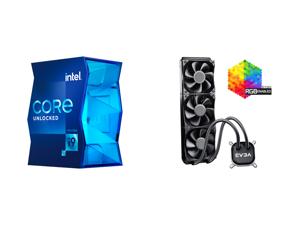 Intel Core i9-11900K Rocket Lake 8-Core 3.5 GHz LGA 1200 125W BX8070811900K Desktop Processor Intel UHD Graphics 750 and EVGA CLC 360 400-HY-CL36-V1 All-In-One RGB LED CPU Liquid Cooler 3x FX12 120mm PWM Fans Intel AMD