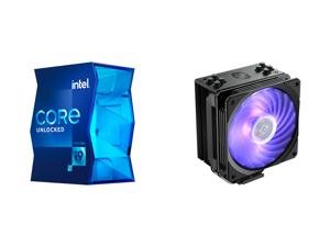 Intel Core i9-11900K Rocket Lake 8-Core 3.5 GHz LGA 1200 125W BX8070811900K Desktop Processor Intel UHD Graphics 750 and Cooler Master Hyper 212 RGB Black Edition CPU Air Cooler SF120R RGB Fan 4 CD 2.0 Heatpipes Anodized Gun-Metal Black Bru