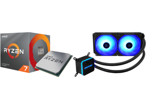 AMD RYZEN 7 3700X 8-Core 3.6 GHz (4.4 GHz Max Boost) Socket AM4 65W 100-100000071BOX Desktop Processor and Enermax LIQMAX III RGB 240 All-in-one CPU Liquid Cooler for AM4 / LGA1200 240mm Radiator Dual-Chamber Water Block RGB Fan 5 Year Warr