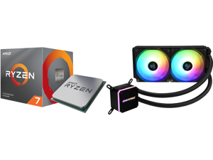AMD RYZEN 7 3700X 8-Core 3.6 GHz (4.4 GHz Max Boost) Socket AM4 65W 100-100000071BOX Desktop Processor and Enermax LIQMAX III ARGB 240 Addressable RGB All-in-one CPU Liquid Cooler for AM4 / LGA1200 240mm Radiator Dual-Chamber Water Block AR