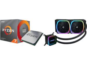 AMD RYZEN 7 3700X 8-Core 3.6 GHz (4.4 GHz Max Boost) Socket AM4 65W 100-100000071BOX Desktop Processor and Enermax AQUAFUSION 240 Addressable RGB All-in-one CPU Liquid Cooler for AM4 / LGA1200 240mm Radiator Dual-Chamber Water Block SquA RG