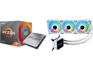 AMD RYZEN 7 3700X 8-Core 3.6 GHz (4.4 GHz Max Boost) Socket AM4 65W 100-100000071BOX Desktop Processor and Enermax LIQMAX III ARGB 360 Addressable RGB All-in-one CPU Liquid Cooler for AM4 / LGA1200 360mm Radiator Dual-Chamber Water Block AR