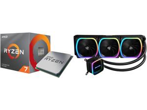 AMD RYZEN 7 3700X 8-Core 3.6 GHz (4.4 GHz Max Boost) Socket AM4 65W 100-100000071BOX Desktop Processor and Enermax AQUAFUSION 360 Addressable RGB All-in-one CPU Liquid Cooler for AM4 / LGA 1200 360mm Radiator Dual-Chamber Water Block SquA R