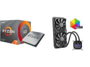 AMD RYZEN 7 3700X 8-Core 3.6 GHz (4.4 GHz Max Boost) Socket AM4 65W 100-100000071BOX Desktop Processor and EVGA CLC 280mm All-In-One RGB LED CPU Liquid Cooler 2x FX13 140mm PWM Fans Intel AMD 400-HY-CL28-V1